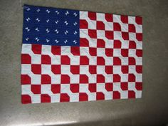 Wall Hanging Quilted  American Flag Art by MyLilBaby on Etsy, $65.00