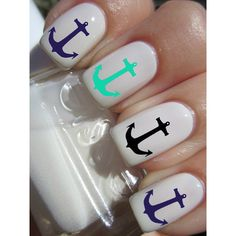 These Anchor Nail Decals will look good over all nail polish colors But look best over White or light color nail polish because these are clear transfers so any...