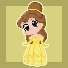 Beauty and the Beast on Disney-Fusion - DeviantArt Chibi Disney, Kawaii Disney, Cute Disney, Disney And Dreamworks, Disney Girls, Baby Disney, Disney Cartoons, Disney Movies, Disney Characters