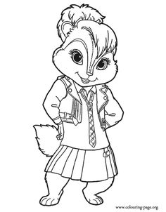 alvin and the chipmunks posing with a smile coloring pages for kids printable alvin and the chipmunks coloring pages for kids - Chipmunk Coloring Pages Printable