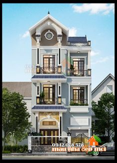 mau biet thu dep 3 tang co gara Style At Home, Bungalow Haus Design, Residential Building Design, Modern Exterior House Designs, Front Elevation Designs, Plans Architecture, Pool Houses, Home Fashion, Luxury Homes