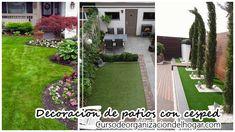 #Decoracion_del_jardin #Ideas_para_jardines 34 patios con cesped que te inspiraràn para decorar el tuyo: 34 patios con césped que te…