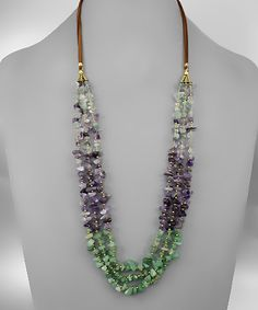 Amethyst and Jade Chip Necklace by TheHoneyBlossomShop on Etsy Crystal Jewelry, Beaded Jewelry, Handmade Jewelry, Jewelry Necklaces, Unique Jewelry, Jewlery, Diy Necklace, Necklace Designs, Amethyst Necklace