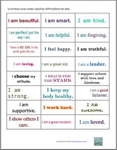 All kids need some encouragement, especially during the school year when they have some tough days! These positive affirmation notes for kids are similar to my lunchbox love notes, but these are meant to encourage your children wherever they are at in life! Stick them in their school lunch for a good boost! #teachmama #printables #encouragement #kids #lunchbox #notes #backtoschool #kids #raisingkids #parenting #schoollunch