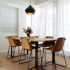 Josh & Charlotte win last night's Block living/dining reveals - The Interiors Addict Dining Room Furniture, Room Chairs, Dining Chairs, Dining Table, Dining Rooms, The Block Room Reveals, Interior Styling, Interior Design, Minimalist Apartment