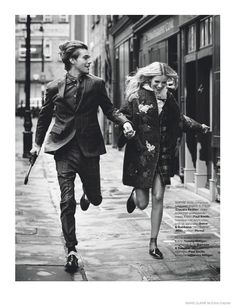 Sophie in Dolce&Gabbana & Pete Star in Fall Love Story for Marie Claire Netherlands
