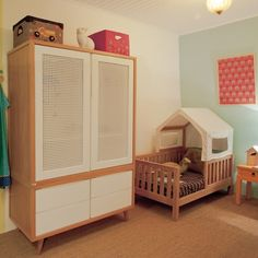 Bed as house House Frame Bed, Bed Frame, Small Nurseries, Big Girl Rooms, Baby Decor, Kids Bedroom, Baby Room, Toddler Bed, Nursery