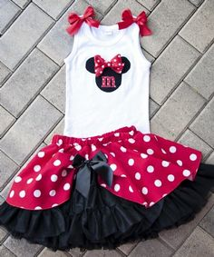 Couture+Minnie+Mouse+Petti+Skirt+Collection Available+in+Pink+or+Red! 12+Months+to+12+Years