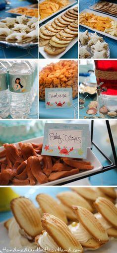Mermaid party food