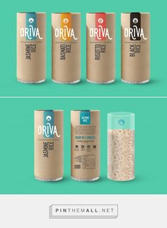Oriva rice by Alon Nusenbaum. Source: Behance. #SFields99 #packaging #design #inspiration #structural #rice