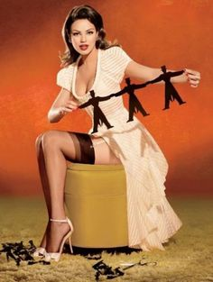 Todays Celebrities in the style of Vintage Pin-Up