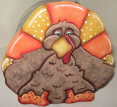 Hey, I found this really awesome Etsy listing at https://www.etsy.com/listing/218083537/turkeys-cookie-jar-lidswood-turkeywhimsy