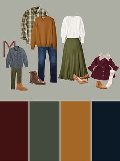 Fall Photo Shoot Outfits, Fall Family Picture Outfits, Family Picture Colors, Family Photos What To Wear, Family Photography Outfits, Clothing Photography, Photography Tips, Winter Family Pictures, Family Pics