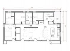 GO LOGIC Shed floor plan - 1 floor/3 bed