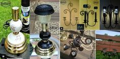 DIY Outdoor Solar Lighting from Recycled Lamps