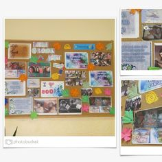 The exhibition of our project on school corridor    We manage to carry the weight of the project!