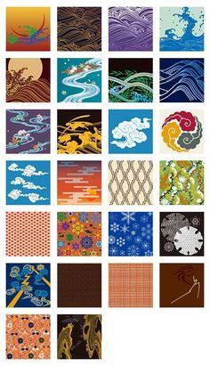 Textile Patterns, Textile Design, Print Patterns, Textile Fabrics, Chinese Patterns, Japanese Patterns, Japanese Textiles, Japanese Art, Kimono Design
