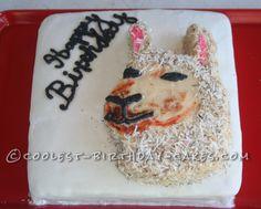 Coolest Llama Birthday Cake... This website is the Pinterest of birthday cake ideas