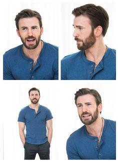 Chris Evans....love me some bearded Chris