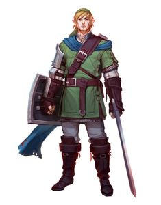 Male Half-Elf Ranger Fighter - Pathfinder PFRPG DND D&D 3.5 5th ed d20 fantasy