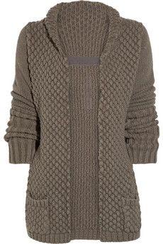 chunky knit alpaca and silk blend cardigan ++ rick owens