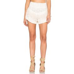 Jen's Pirate Booty Saturn Short Shorts ($149) ❤ liked on Polyvore featuring shorts, cotton shorts, mini shorts, cotton elastic waist shorts, short shorts and hot cotton pants