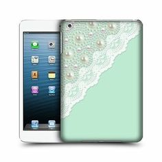 HEAD CASE MINT LACES AND PEARL DESIGN GLOSSY BACK CASE COVER FOR APPLE iPAD MINI