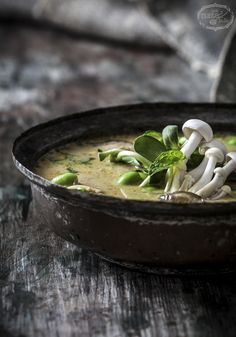 Coconut Curry Chicken Soup Recipe | www.littlerustedladle.com | #foodphotography #foodstyling #soup