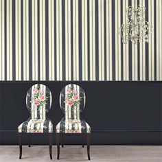 Style Library - The Premier Destination for Stylish and Quality British Design | Products | Cecile Stripe Wallpaper (DVIN214581) | Vintage 2 Wallpapers | By Sanderson