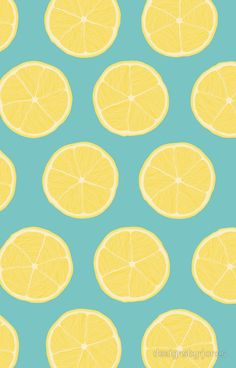 Aqua Wallpaper, Summer Wallpaper, Iphone Background Wallpaper, Cute Wallpaper Backgrounds, Cute Wallpapers, Phone Backgrounds, Lemon Background, Lemon Pictures, Photo Wall Collage