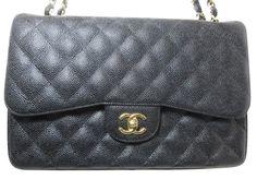 2fcf4b72dcdd Chanel Jumbo Double Flap Caviar Black GHW - Keeks Buy + Sell Designer  Handbags
