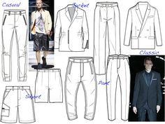 fashion academi, technic sketch, fashion flat, technic draw, menswear