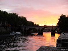 Coucher de Soleil sur la Seine, Terasse Les Nautes Paris http://ThatsMee.fr