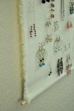 Darkroom and Dearly: {diy: hanging jewelry displays}