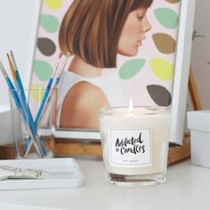 Our Mint Mojito candle burns brightly in @wolfgang_and_rose gorgeous studio 🔥Thank you so much for loving our candles!!!❤️#addictedtocandles #love #candles #mintmojito #fragrance #amazing #wolfgangandrose #fashionillustration #australianartist #fashionillustrator #luxury #accessories #fashion #style #homedecor #interiorinspiration #homewares #studio #homestyle #office #etsy #etsyau #madewithlove #makersgonnamake #candlelover #picoftheday