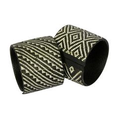 Extra Large Black & White Cana Flecha Bracelets Handmade by artisans in Colombia