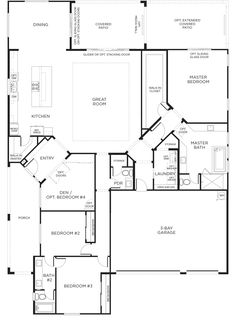 Search for new homes in Las Vegas. Pardee Homes builds green, and sustainable houses, cascades, bungalows, townhomes in sought-after locations. New House Plans, Dream House Plans, House Floor Plans, Dream Houses, The Plan, How To Plan, Pardee Homes, Las Vegas Homes, Garage Bedroom