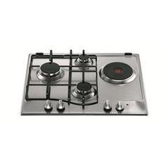 HOTPOINT - PC631XHA _ Table de cuisson Mixte - 1 foyer rapide 3 kW - Allumage intégré aux manettes - Sécurité gaz par thermocouple - Grilles émaillées - Finition inox.