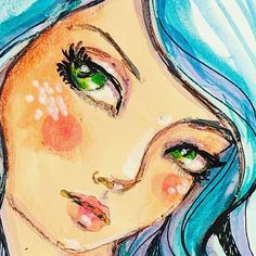 lans are afoot! More news soon. Jane Davenport Watercolors, Art Sketches, Art Drawings, Mixed Media Faces, Moleskine, Face Illustration, Art Addiction, Art Journal Inspiration, Whimsical Art