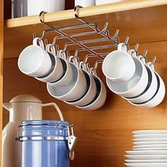 CHROME UNDER SHELF CUP HOLDER (HOLDS UP TO 12 CUPS!)