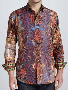 Robert Graham ESCHER Shirt, Neiman Marcus exclusive, Style RF131011, Fall 2013