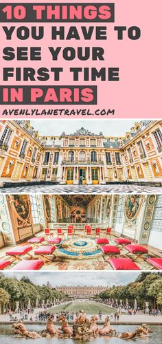 10 Things You Have to see Your First Time in Paris! These Paris travel tips will you help as you as you explore the history, culture, food and top places to visit in Paris, France. Versailles palace and gardens is a must see even if you only have 3 days to spend in Paris. Avenlylanetravel.com | #paris #france #europe #travel #photography #avenlylanetravel #traveltips