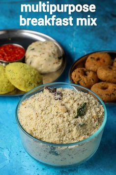 instant breakfast mix recipe | rava breakfast mix for upma, idli & vada South Indian Breakfast Recipes, Indian Dessert Recipes, Chaat Recipe, Rava Upma Recipe, Appam Recipe, Instant Breakfast Recipe, Snack Recipes, Cooking Recipes, Veg Recipes