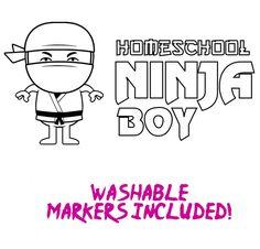 (http://www.shopgreatproducts.com/color-in-ninja-boy-t-shirt/)