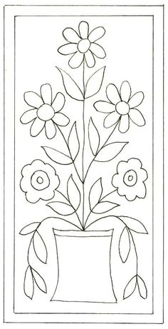 pattern for Bauernmalerei Wool Applique Patterns, Punch Needle Patterns, Applique Templates, Applique Quilts, Embroidery Patterns, Rug Hooking Designs, Rug Hooking Patterns, Quilt Patterns, Pattern Floral