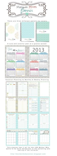 LDS Planners for Mormon Moms: Planner Overview