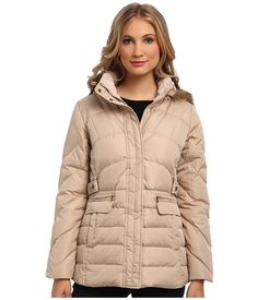 Larry Levine Warm Down Filled Jacket w/ Faux Fur Trimmed Hood