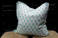 Robert Allen Lighten Up in Sky Linen Pillows by TheDraperyGal