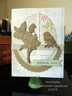 Stampin' Up! Backyard Basics Bird and flower