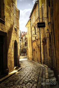 Narrow Street In Perigueux Photograph  - Narrow Street In Perigueux Fine Art Print
